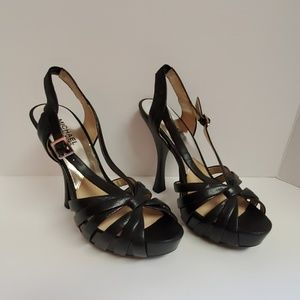 "Michael Kors Strappy Leather 5"" Heels Size 8 Med."